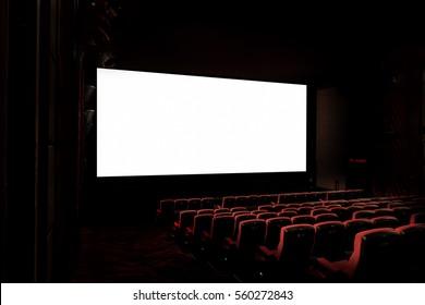 Movie Theatre with empty seats