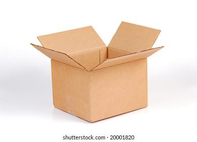moving box isolated on white
