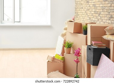 Moving boxes in light room
