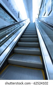 Moving escalator to the heaven concept