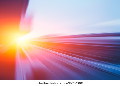 Moving Fastest High speed concept, Acceleration super fast speedy drive motion blur of lightning abstract for background design.