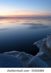 Moving ice on the Baltic sea