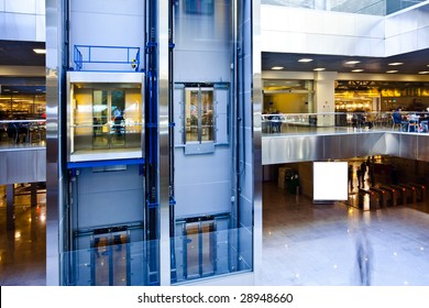 Moving lifts in office center