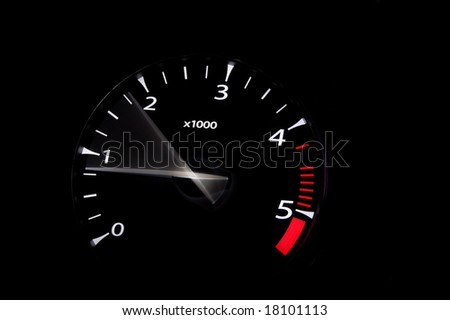 Moving Revs Meter Sports Car On Stock Photo Edit Now 18101113