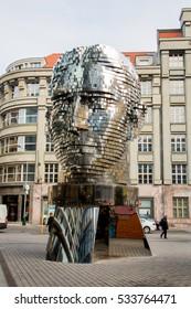 The moving statue of Franz Kafka by Czech artist David Cerny