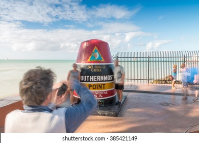 Moving tourists around Southernmost Point, Key West.