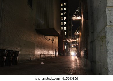 Moving Van in Dark Alley