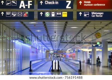 Aeroporto di monaco di baviera collegamento terminal terminal
