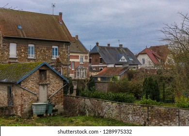 Moy de l'Aisne village in Picardie region, France.
