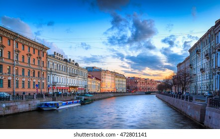 The Moyka River is a small river in Russia that encircles the central portion of Saint Petersburg, effectively making it an island. The river was originally known as Mya.