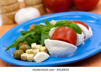 Mozzarella - Tomato Salad with Garlic