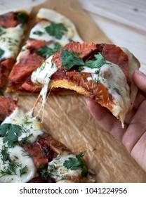 Mozzarella Tomato Salmon Pizza