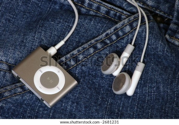 mp3 player clipped to a pocket