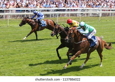 Mr Lupton ridden by Jack Garrity winning the Listed John Smiths City Walls Stakes at York Races : The Knavesmire, York Racecourse, Nth Yorkshire, UK : 14 July 2018 : Pic Mick Atkins