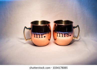 Mr. and Mrs. Cups in Light Painting