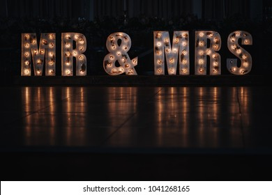 Mr & Mrs Marquee Letters Night