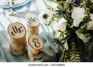 mr and mrs wedding  decoration