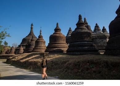 Mrauk U ancient city at Rakhine state, Myanmar.