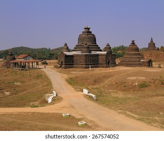 Mrauk u old temple view, Burma
