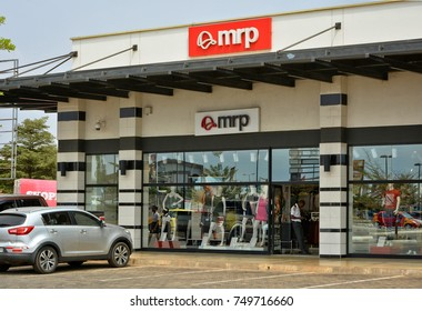MRP shop window. Fashion storefront in a shopping mall. Modern style. Elegant clothes. Woman fashion industry. The leading South African retailer of clothing. Ghana, Accra - January 20, 2017