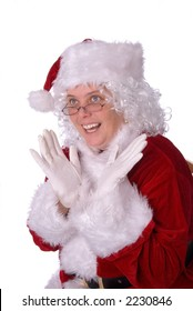 Mrs. Claus could not be happier