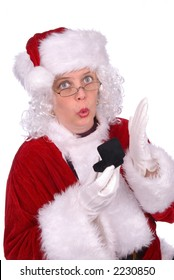 Mrs. Claus got a ring for christmas