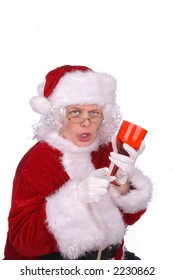 Mrs. Claus had to much to drink, and now she is an angry drunk