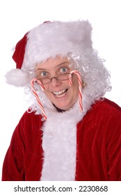 Mrs. Claus has gone crazy for candy canes