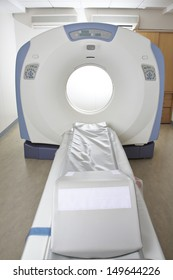 MRT machine for magnetic resonance imaging in radiology in a hospital