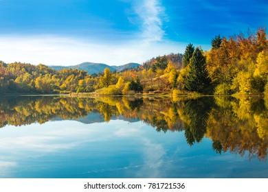 Mrzla vodica lake and Risnjak mountain, Gorski kotar, Croatia