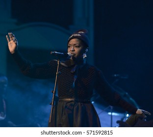 Ms. Lauryn Hill performs in Pittsburgh during 'The MLH Caravan: A Diaspora Calling' tour, Wednesday, January 31, 2017 at Heinz Hall.