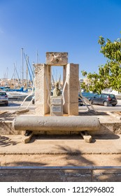 MSIDA, MALTA - SEP 19, 2016: Monument in memory of the torpedo base of the Royal Navy of Great Britain.