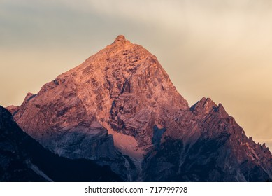 Mt. Antelao, 3263m, above Cortina, is the second highest mountain in Dolomiti, also known as the King of the Mountains.