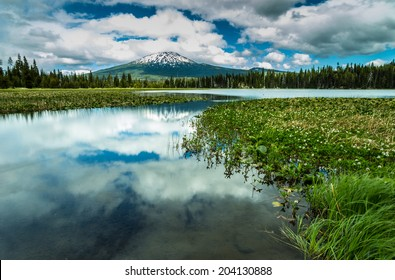Mt Bachelor Reflection in Lake Hosmer