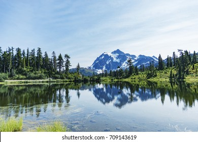 Mt Baker reflection view at differance point 1, WA,USA.