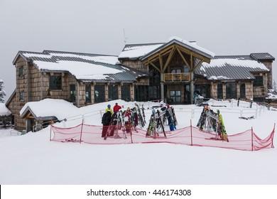 MT BAKER SKI AREA, WASHINGTON/USA - FEB 4, 2016: Mt Baker White Salmon Lodge
