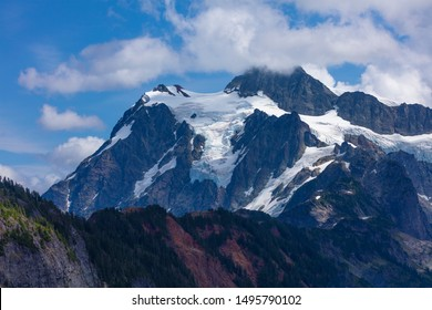 Mt Baker Snoqualmie National Forest - View of snow on the peak of Mount Shuksan from Artist Point