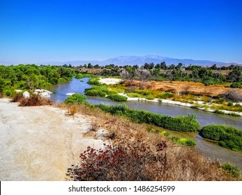 Mt. Baldy across the Santa Ana River