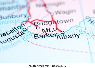 Mt. Barker. Australia on a map