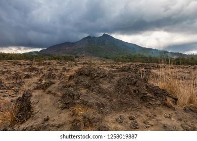 Mt. Batur Active Volcano in Bali, Indonesia