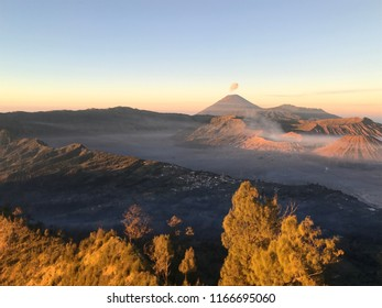 Mt. Bromo in Java, Indonesia at sunrise.