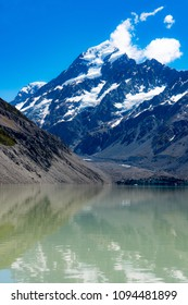 Mt Cook (Aoraki) in Hooker Valley, this is of the famous tourist attraction in New Zealand.