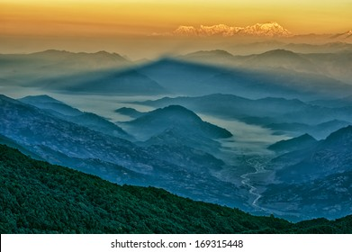 Mt. Dhaulagiri, view from Mt. Shivapuri, Shivapuri Nagarjun National Park
