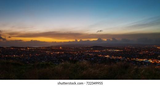 Mt Eden Domain Auckland Skyline