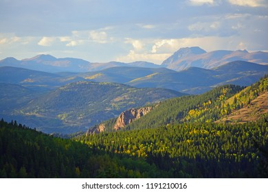 Mt. Evans Wilderness Area in Colorado with Colorful Fall Leaves