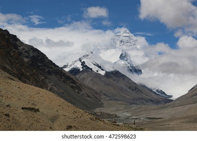 Mt Everest North face at Tibet