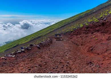 Mt. Fuji climbing,Yoshida Trail  , japan