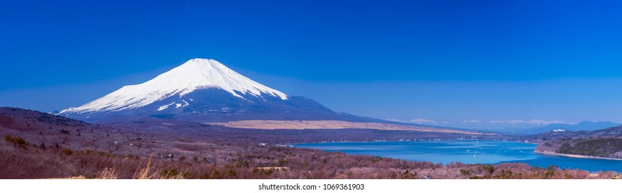Mt Fuji with Japan alps in the background