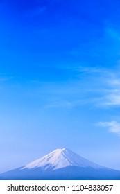 MT. Fuji mountain : Kawaguchiko lake Yamanashi Japan.