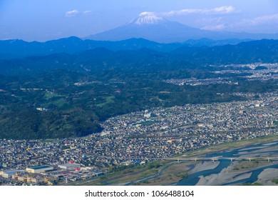 Mt Fuji and Shizuoka City